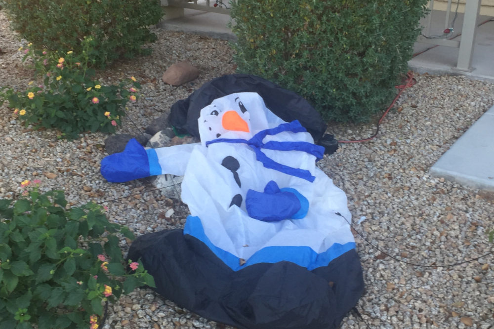 Inflatable Snowman Faith